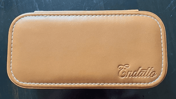 Leather travel case for watches